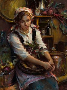 Daniel F. Gerhartz - From the Garden. Wow I like this artists work....