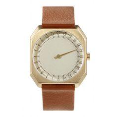 Armbanduhr slow Jo Braun-Gold, 190€, jetzt auf Fab.