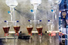 cold drip coffee in istanbul Cold Brew Coffee Maker, Drip Coffee, Coffee Shop, Cold Drip, Istanbul, Brewing, Alcoholic Drinks, Wine, Glass