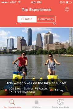 Water biking and other fun and active date ideas in and around Austin.
