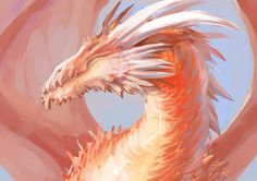 Omg It looks like it would be a peach dragon! (If it looked a little more gentle :) )