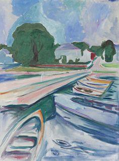 Rowboats at Åsgårdstrand by Edvard Munch, 1932-33