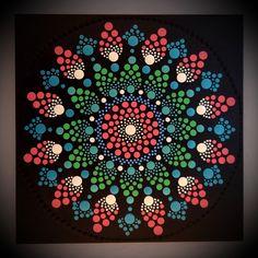 30 x 30 cm. Dot Art Painting, Acrylic Painting Canvas, Mandala Dots, Handmade Items, Etsy Seller, Hand Painted, Creative, Projects, Design