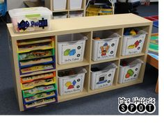 preschool classroom set up When I moved to Pre-K, I completely changed how I ran my classroom. I went to a more center based, student led system, as opposed to . Preschool Library Center, Preschool Classroom Centers, Preschool Classroom Layout, Preschool Puzzles, Preschool Rooms, Kindergarten Centers, Free Preschool, Preschool Learning, Classroom Organization