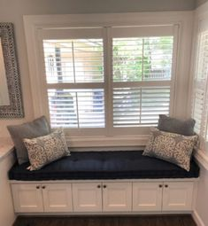 Hand Tufted Window Seat Cushion Navy Sunbrella Bay Benches Cushions Bench