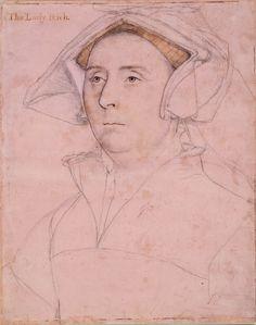 """Elizabeth, Lady Rich Hans Holbein the Younger, c. """"A portrait… Renaissance Portraits, Renaissance Era, Tudor History, Art History, Hans Holbein The Younger, The Royal Collection, Portrait Sketches, A4 Poster, Vintage Artwork"""
