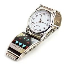 Zuni Inlay Watch by Leander & Lisa Othole – Turquoise Village