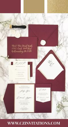 Burgundy is a timeless color and it goes perfectly with Gold Glitter for a dreamy, elegant wedding! Burgundy and Gold will never go out of style! Wedding Ideas, Burgundy Wedding, Gold Wedding, Glitter Wedding, Elegant Wedding, DIY Wedding, Burgundy and Gold Inspiration, Invitations, Ideas, Inspo, Classic, Unique, Elegant