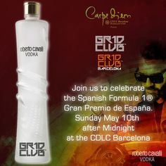 Celebrate the Gran Premio de España with Roberto Cavalli Vodka and Gr1d Club…