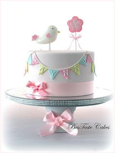 Bird 1st Birthday Cake