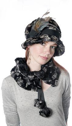 Faux Fur Ruffs - Pandemonium Hats #pandemoniumhats #pandemoniummillinery #Seattle #WA  #handmade #madeinUSA #shopping #style #beauty #fashion #accessories #fashion #fauxfur #collar #ruff #hat #polkadots #poms