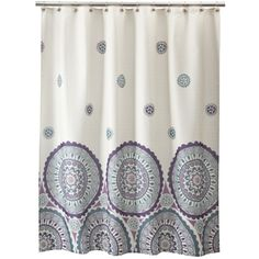 Circles Shower Curtain  Purple And Grey Shower Curtain