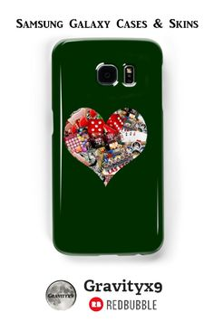 Heart - Las Vegas Playing Card Shape Samsung Galaxy Cases & Skins - This #LasVegasIcons design is also available on fashion, prints, home decor and more at #Redbubble -