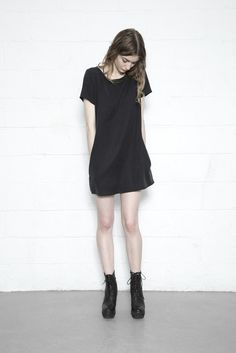 Enzyme Washed Tencel T Dress with pockets