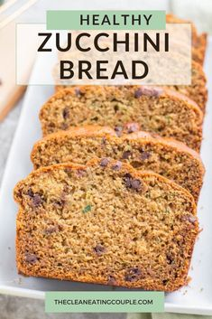 This Healthy Zucchini Bread Recipe is perfect for a simple snack or nutritious breakfast. Gluten free