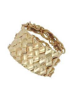 Gold Diamond Engraved Bracelet