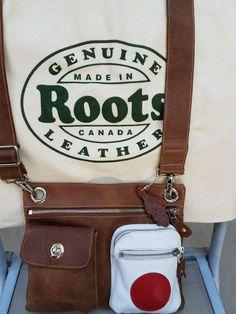 58bf1cd2c4 ROOTS Canada Leather Crossbody Village Tribe Medium Bag Japanese Flag Dust  Bag  Roots  Crossbody