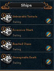 I named my ports ships after Yaka's 4 main pools