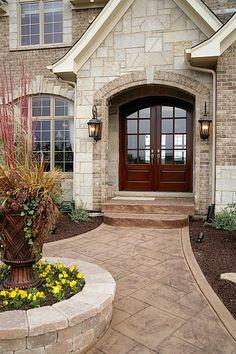 No cherry door!  But great rock and brick mix.