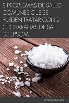 8 problemas de salud comunes que se pueden tratar con 2 cucharadas de sal de Epsom #salud