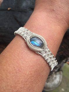 Wire Wrapped Bracelet Labradorite Bracelet by SweetWaterSilver