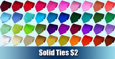 THE BEST PLACE to buy ties for a wedding! Only $2 each! They also sell zipper ties, clip-ons, and bow-ties.