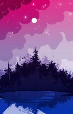 'bi pride forest' Sticker by spadenightmaren Tumblr Wallpaper, Wallpaper Backgrounds, Iphone Wallpaper, Bisexual Pride, Gay Pride, Bi Flag, Gay Aesthetic, Cute Wallpapers, Aesthetic Wallpapers