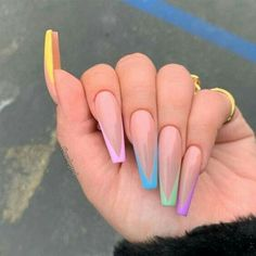 30 Perfect Coffin Acrylic Nails Designs To Sport This Season - Classic French Coffin Nails ❤ 30 Coffin Nail Designs You'll Want To Wear Right Now ❤ See mo - Coffin Shape Nails, Coffin Nails Long, Nails Shape, Long Gel Nails, Short Nails, Nail Swag, Perfect Nails, Gorgeous Nails, French Tip Nail Designs