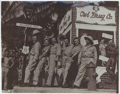 Bob Hope, Frances Langford, Jerry Colonna, Tony Romano, Patty Thomas, Barney Dean; South Pacific, 1944. USO Camp Shows, Inc. - SWPA. | The Library of Congress