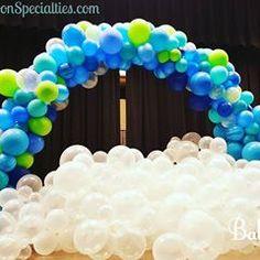 Bubble Balloon Cloud & Organic Arch in Petaluma. Order Balloons, Send Balloons, Bubble Balloons, Birthday Balloons, Bubbles, Balloon Clouds, Balloon Arch, Balloon Centerpieces, Balloon Decorations