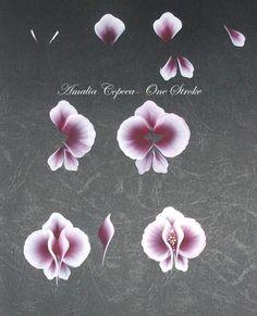 Pictura One Stroke: Tutorial cu orhidee