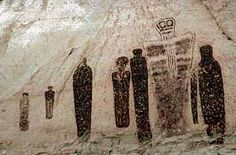 Those of you who watch the Ancient Aliens series may also be familiar with the Anasazi because of their cave drawings of Ancient Astronauts. Description from scientilosopher.blogspot.com. I searched for this on bing.com/images