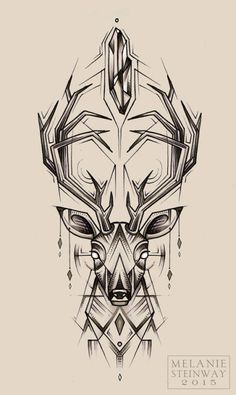 deer back tattoos - Google Search