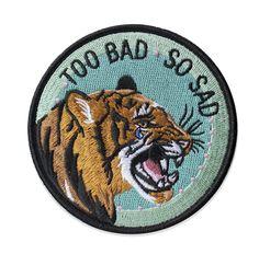 Too Bad So Sad Patch Patch Shop, Porsche Logo, Patches, Sad, Logos, Logo