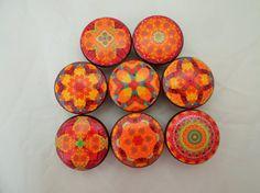 Set of 8 Pele  Mandala Cabinet Knobs by ReadinginRags on Etsy