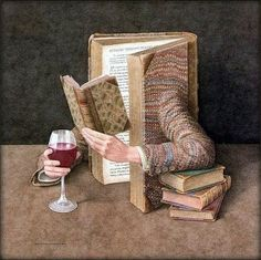 A book and a glass of good wine, perfect¡¡