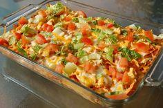 Cheesy chicken dormitory Mexican casserole