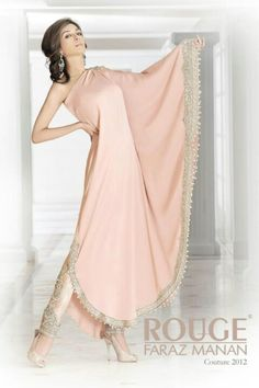 Soft pink salvaar.. Rouge by: Faraz Manan