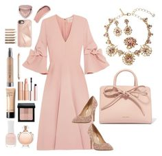 """Blush"" by bcurryrice on Polyvore featuring Oscar de la Renta, Roksanda, Head Over Heels by Dune, Mansur Gavriel, Rebecca Minkoff, Bobbi Brown Cosmetics, Too Faced Cosmetics, Charlotte Russe, Burberry and Paco Rabanne"