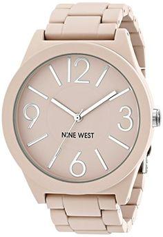 Nine West Women's NW/1678GYRG reloj para mujer con brazalete de goma color rosa mate. Nine West http://www.amazon.com.mx/dp/B00SCSYWME/ref=cm_sw_r_pi_dp_RVuLvb1KY5NAM