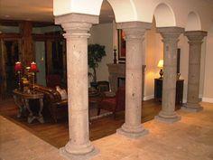 Cantera Columns at Great Room