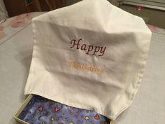 Handmade linen Thanksgiving handkerchief. by FamilyFavoriteGifts