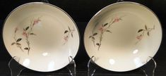 Fine China of Japan Cherry Blossom Cereal Bowls 6 1067 Set of 2 Excellent Vintage Dinnerware, Perfect Mother's Day Gift, Noritake, Cereal Bowls, Fine China, Cherry Blossom, Decorating Your Home, Mother Day Gifts, Decorative Plates