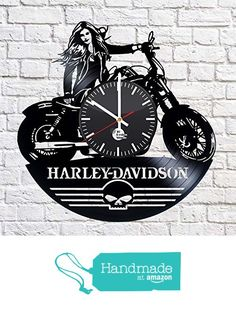 Harley Davidson Vinyl Record Wall Clock - Get unique kitchen wall decor - Gift ideas for him and her - Leave us a feedback and win your custom clock from TO Design Studio https://www.amazon.com/dp/B01DF6CHRO/ref=hnd_sw_r_pi_dp_0-kExbNPZWA12 #handmadeatamazon