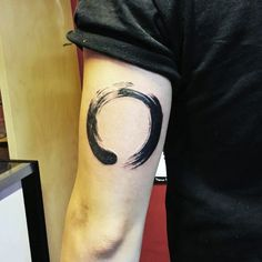 Tricep Zen Circle Tattoo