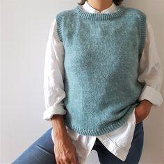 Wool Vest, Knit Vest, Casual Outfits, Fashion Outfits, Womens Fashion, Casual Clothes, Fasion, Knitting Gauge, Stockinette
