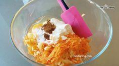 Pastel para perros fácil Receta de manzana y zanahoria - PetDarling
