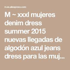 M ~ xxxl mujeres denim dress summer 2015 nuevas llegadas de algodón azul jeans dress para las mujeres con cuello en v gran tamaño vestidos tienda online ropa US $34.52