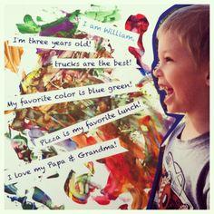 Just Us Three Design: {Mixed Media #Kids #Art}
