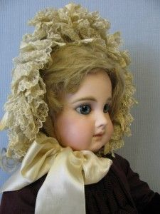 """22"""" Earliest Antique EJ Doll Made! 8 OVER EJ Jumeau Blue eyes,8 ball joint body"""